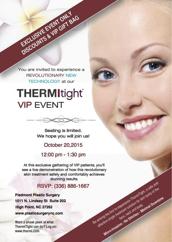 ThermiTight October 20th VIP Event High Point, NC | Piedmont